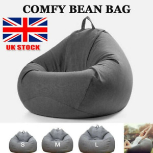 Adult Kids Bean Bag Chair Sofa Couch Cover Indoor Lazy Lounger No filling FD
