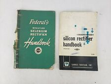 Lot of 2 Vintage Electronics Silicon Selenium Rectifier Books Federal & Tarzian