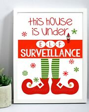 Elf Surveillance For On the Shelf Fun Accessory XMAS Christmas Decoration Gift