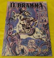 IL DRAMMA 1951 n. 131 - Copertina Emanuele Luzzati  - Opere: vedi inserzione