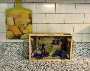 Unique Mixed Media Upcycled Kitchen Wine Gift Shadow Box