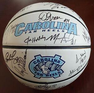 UNC 2006-07 Team Signed Basketball ROY WILLIAMS DANNY GREEN HANSBROUGH 20 AUTOs