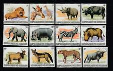 BURUNDI # 589-600 VF-MNH JUNGLE ANIMALS CAT VALUE $187++++++