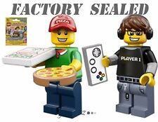 LEGO 71007 Minifigures Series 12 Video Game Guy Pizza Delivery Man FACTORY SEAL