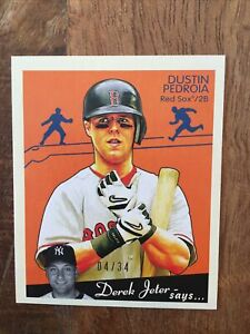 2008 Goudey Black Back Mini #25 Dustin Pedroia /34 Boston Red Sox
