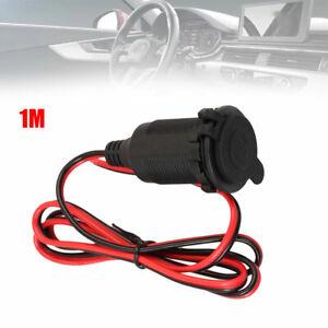 Car 12v Cigarette-lighter Charger Cable Female Socket Plug Connector Adapter Kit