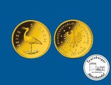 Deutschland 20 Euro 2020 Weißstorch * Prägestätte J * 1/8 oz 999 Gold ST