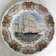 "CHURCHILL POTTERY CURRIER IVES TALL SHIPS THEOXENA 10"" COLLECTIBLE DINNER PLATE"