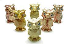 CARVED - Tan DOLOMITE OWL Spirit Animal Totem with Card - Healing Reiki Stone