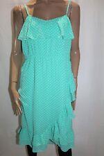 CROSSROADS Brand Green Chiffon Polka Dot Ruffle Dress Size 22 BNWT #TE45