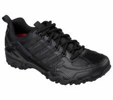 Skechers Black Work Shoe Women Slip Resistant EH Safe Lace Up Soft Leather 76492