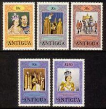 Antigua #508 - 512 Mint NH Complete 1978 Set honors Queen Elizabeth II 25thAnniv