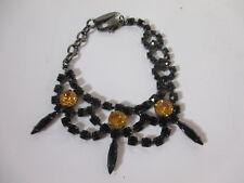 JOOMI LIM Black crystal Yellow Spike Bracelet NWOT $195