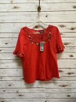 NWT Karl Lagerfeld red blouse size XL