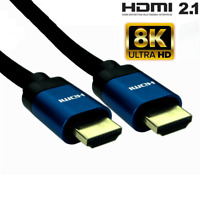 GOLD 8K HDMI CABLE LEAD SMART HD TV HDTV 3D METRE 50cm 1m 2m 3M 5M 10M Uk