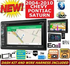 04-10 CHEVY PONTIAC SATURN GPS NAVIGATION BLUETOOTH USB CD/DVD/AUX STEREO PKG