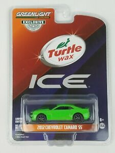"""Greenlight 1/64 Turtle Wax Ad Cars 2012 Chevy Camaro """"ICE"""" HOBBY EXCLUSIVE 30019"""