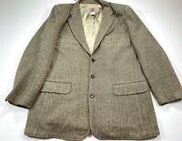 The Territory Ahead Men's 3 Button Sport Coat Jacket Silk XLL XL Long