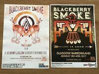BLACKBERRY SMOKE - JOB LOT COLLECTION 2 SCOTTISH GLASGOW CONCERT/GIG POSTERS