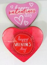 """Heart Shape Metal tin Containers Box Lot of 2 (6""""x6""""x1.5"""") NEW"""