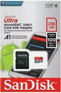 Genuine Sandisk Ultra 100MB/s 256 GB Micro SD SDXC Class 10 Memory Card