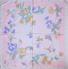 -Superbe Foulard LEONARD   100% soie  TBEG  vintage scarf  88 x 92 cm