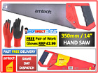 """AMTECH 350mm / 14"""" Hand Saw Wood Carpentry 7 TPI Sharpoint Hardpoint NEW M0510"""