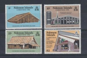 SOLOMON ISLANDS 1981 Christmas Churches Set LMM