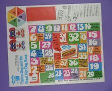 Tastee-Freez Unused Game Sheet 1976 - Tastee Dog and the Great Hot Dog Race