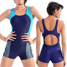 Womens Cross1946 Boyleg Swimsuit Swimming Costume Racer Back Shorts Style Legs
