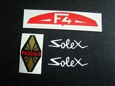1 LOT DE 4  AUTOCOLLANTS  POUR   SOLEX  F4      VELOSOLEX