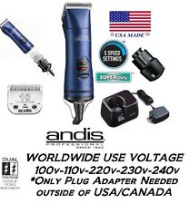 Andis AGRV PowerGroom+ 5 Speed CORD/CORDLESS Clipper&Blade&Battery&Charger Stand