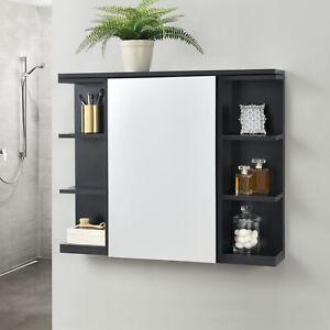 Spiegelschrank Badezimmerschrank Badschrank Wandschrank Schrank Regal 64x80x20cm