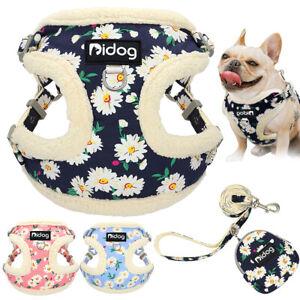 Dog Harness & Lead & Treat Bag Small Puppy Soft Fleece Vest French Bulldog Pug