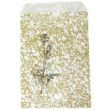 500 Gold Rose Merchandise Retail Paper Jewelry Gift Bags 5 X 7 Tall