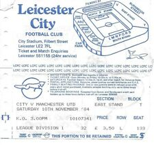 Leicester City v Manchester United 1984/1985 ticket