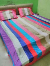 Multicolor Patchwork Bed Cover Set/Flat Sheet Set 800TC Egyptian Cotton ALL SIZE