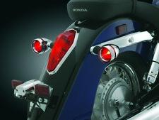 VT1300 Honda Interstate - (x4) Red+Amber Turn Signal Lenses w/Deep Dish Bezels