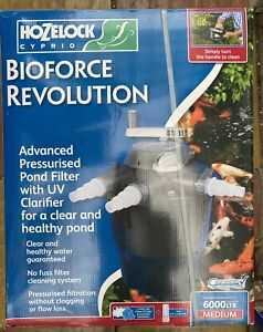 Hozelock 1353 Bioforce Revolution 6000 Pond Filter Pressure Filter With Uvc