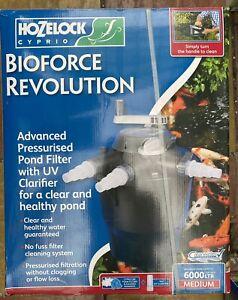 Hozelock 1353 Bioforce Revolution 6000 Pond Filter Pressure Filter With Uvc