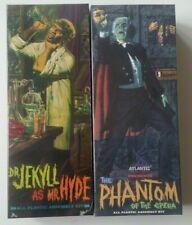 Lot of 2 Atlantis Phantom of the Opera Dr Jekyll Mr Hyde Aurora monster models