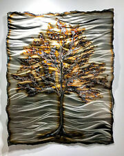 Metal Wall Sculpture Contemporary Abstract Tree Copper Aluminum Art Decor Modern
