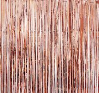 Metallic Foil Fringe Curtain Backdrop Very Long With Convenient Adhesive Back