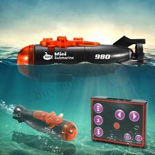 Mini Micro Radio télécommande RC sous-marin bateau avec lumière LED jouet cadeau