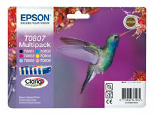 Genuine Epson T0807 Multipack Ink Cartridges Hummingbird | FREE 🚚 DELIVERY