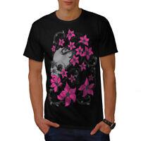 Wellcoda Skull Head Face Mens T-shirt, Horror Graphic Design Printed Tee