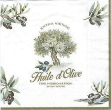 2 Serviettes en papier Douce Provence Huile d'olive Paper Napkins Olive Oil