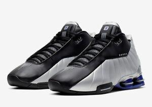 🔥 Nike Shox BB4 OG Retro Silver Purple Vince Carter Shoes AT7843-001 Size 13