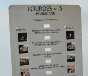 Carte Stéréoscopique ROMO LOURDES N°3 - Pèlerinage - Format de 10 VUES