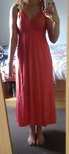 Pink Coral Maxi Dress With Underskirt Size 10 Beach Holiday